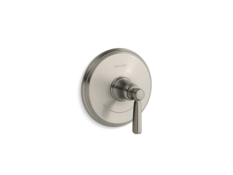 KOHLER T10593-4-BN Bancroft Valve Trim With Metal Lever Handle For Thermostatic Valve, Requires Valve in Vibrant Brushed Nickel