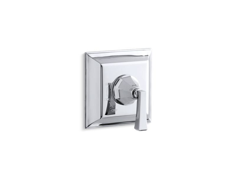 KOHLER TS463-4V-CP Memoirs Stately Rite-Temp Valve Trim With Deco Lever Handle in Polished Chrome