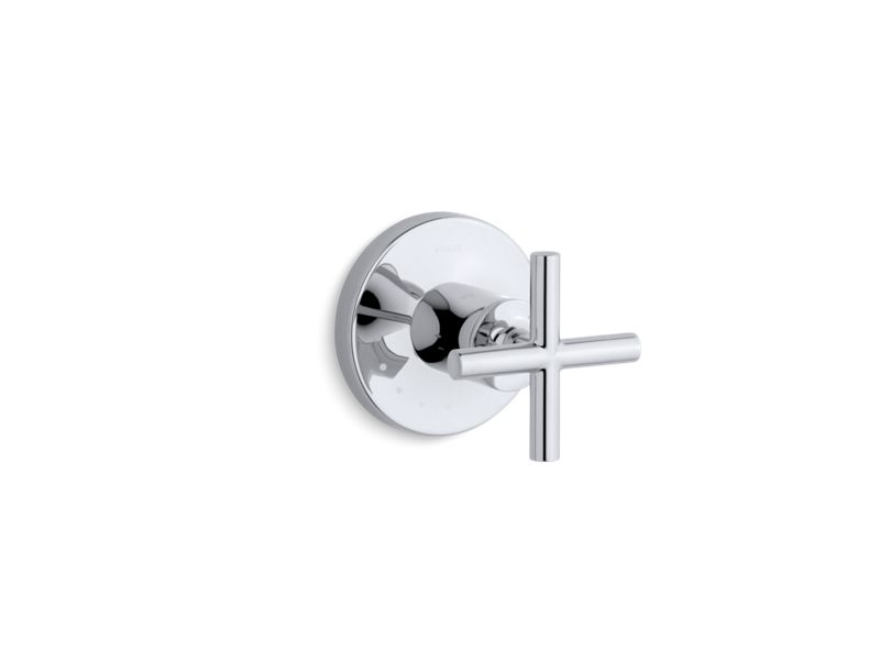 KOHLER T14490-3-CP Purist Valve Trim With Cross Handle For Volume Control Valve, Requires Valve in Polished Chrome