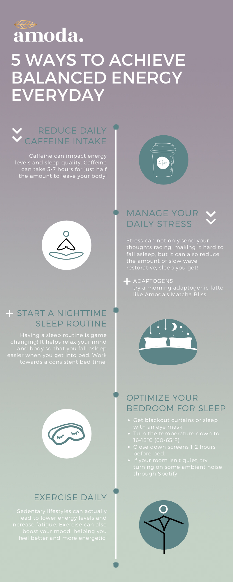 infographic 5 ways to get more balanced energy everyday