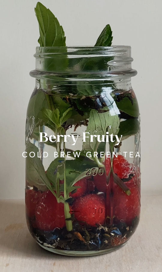 fruit and herb cold brew tea