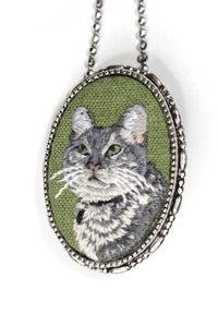 Custom Embroidery Animal Companion Portrait