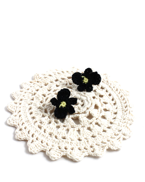 Crochet Flower Earrings - Various Colors | On Sale