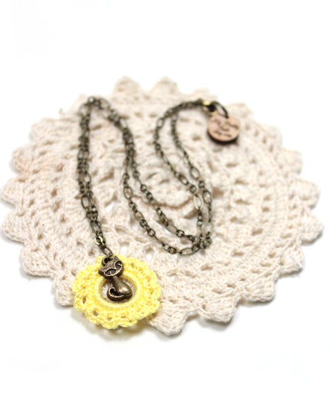 Crochet Necklace - Cat