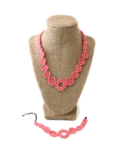 Crochet Set - Coral | On Sale