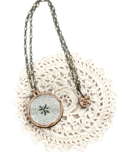 Embroidery Necklace - Dandelion | On Sale