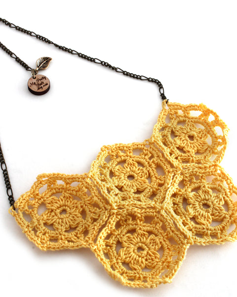 Crochet Necklace - Yellow | On Sale
