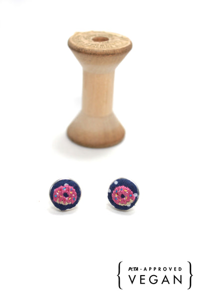 Embroidery Earrings - Donut | On Sale