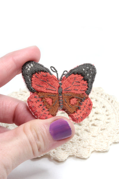 Embroidery Butterfly Brooch