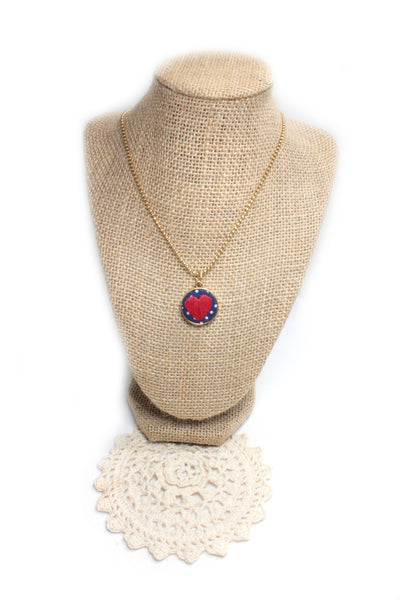 Embroidery Necklace - Heart