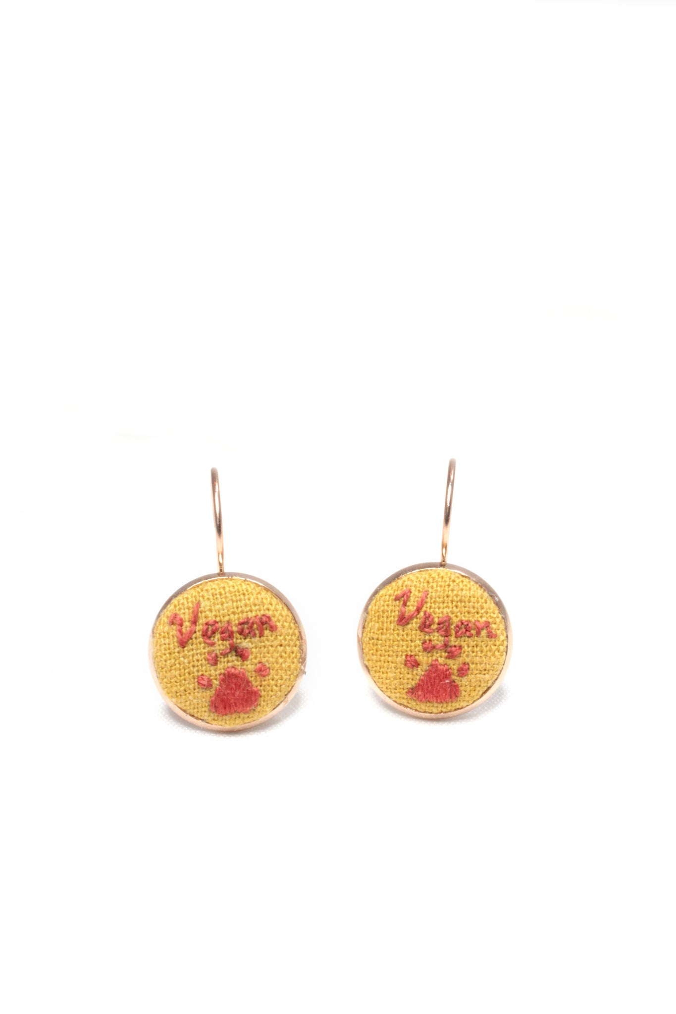 Embroidery Earrings - Vegan + Paws