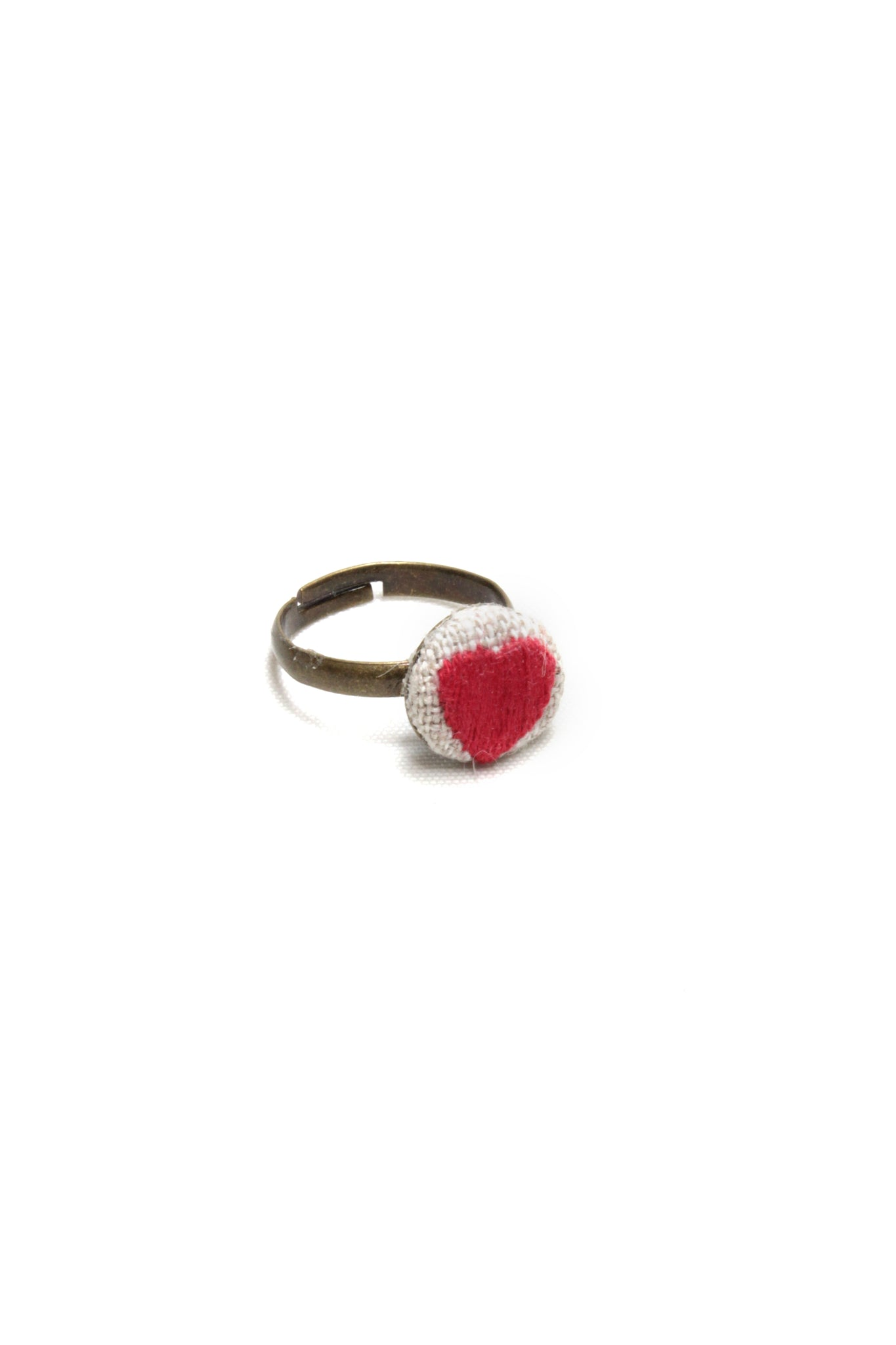 Embroidery Ring - Heart | On Sale