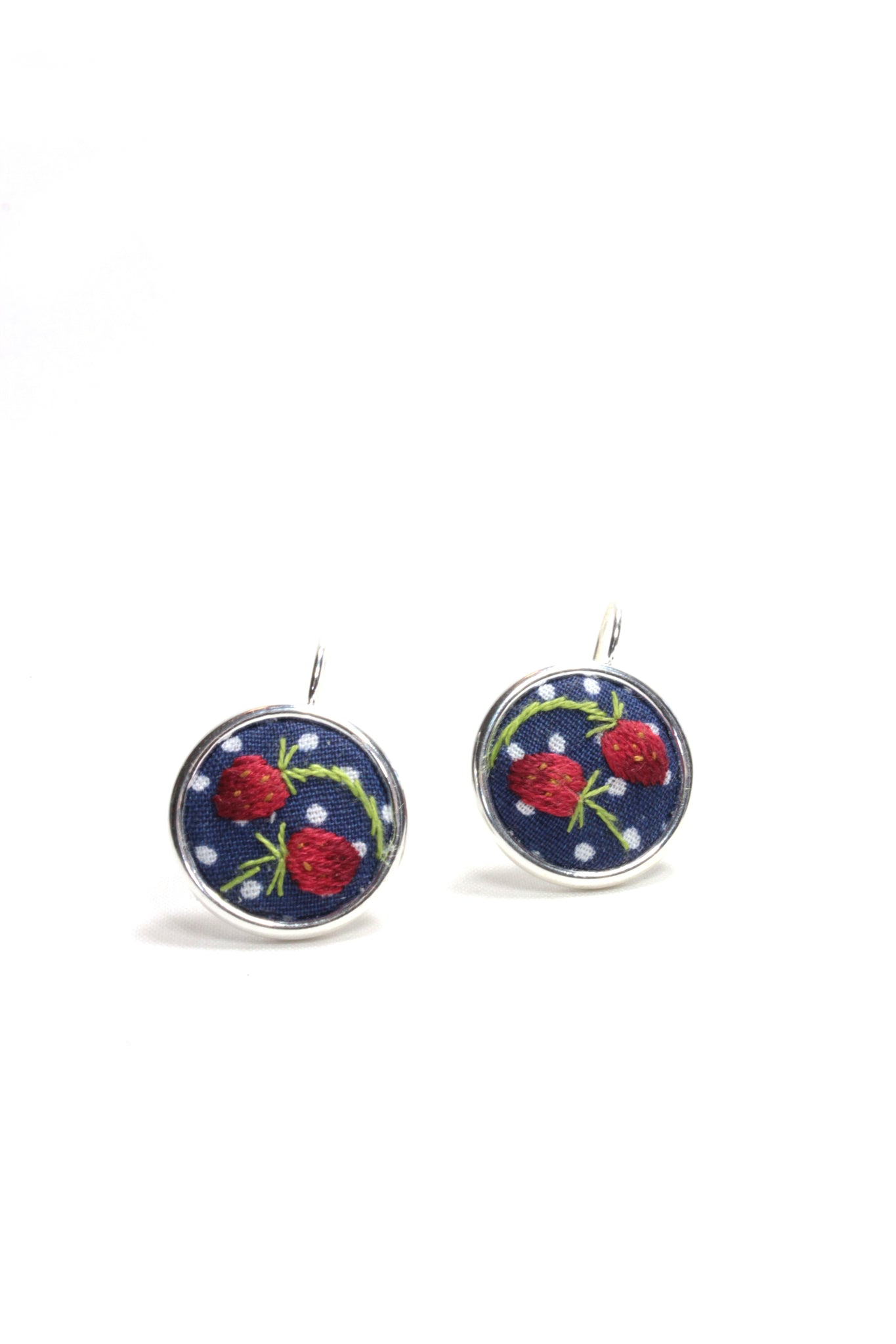 Embroidery Earrings - Strawberry