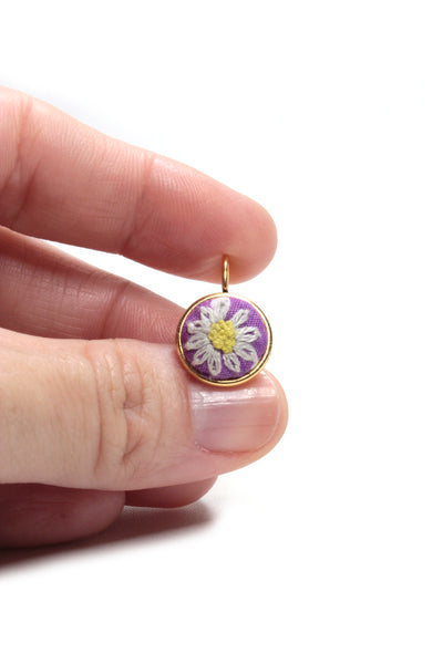 NEW | Embroidery Earrings - Daisy