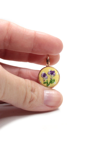 Embroidery Earrings - Iris
