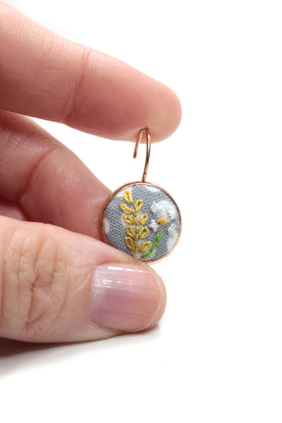 Embroidery Earrings - Daisy & Branch