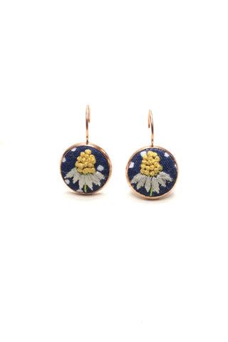 Embroidery Earrings - Chamomile Earrings