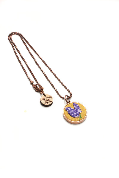 Embroidery Necklace - Lavender | On Sale