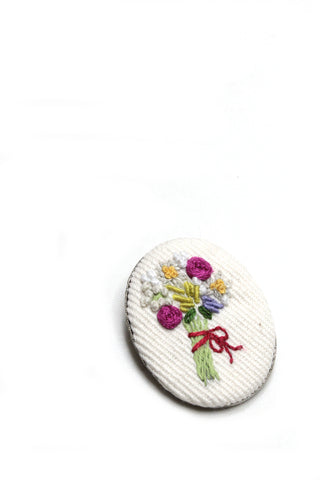 Embroidery Brooch - Flower Bouquet