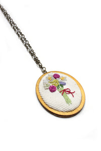 Embroidery Necklace - Bouquet | On Sale