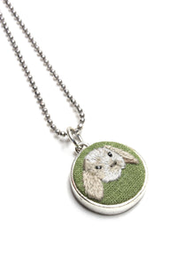 Embroidery Necklace - Bunny