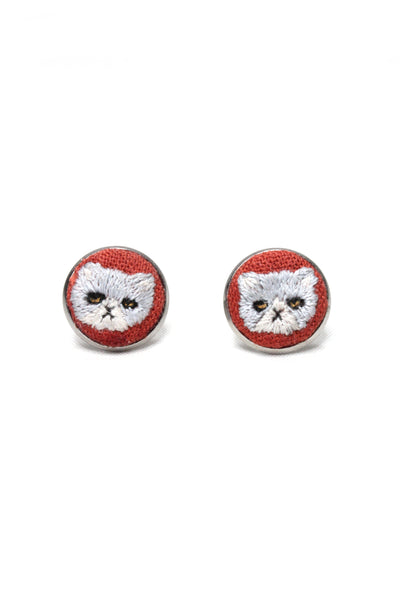 Embroidery Studs - Persian Cat