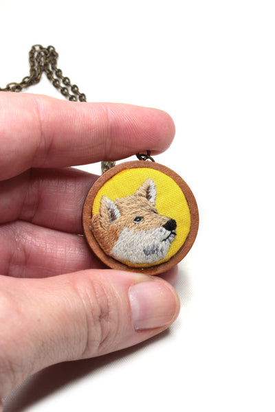Embroidery Necklace - Corgi | On Sale