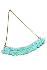 NEW | Crochet Necklace - Blue or Mint