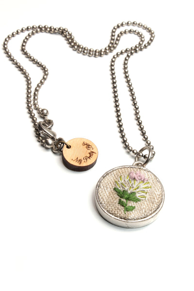NEW | Embroidery Necklace - Bullion Flower