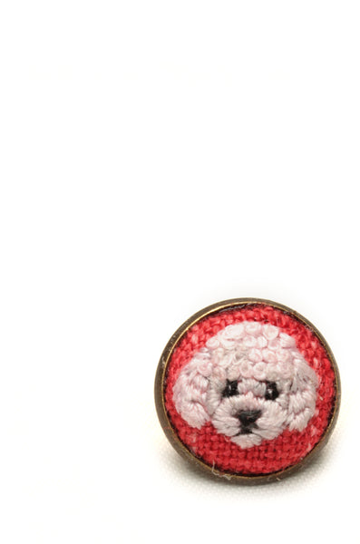 NEW | Embroidery Earrings - Poodle