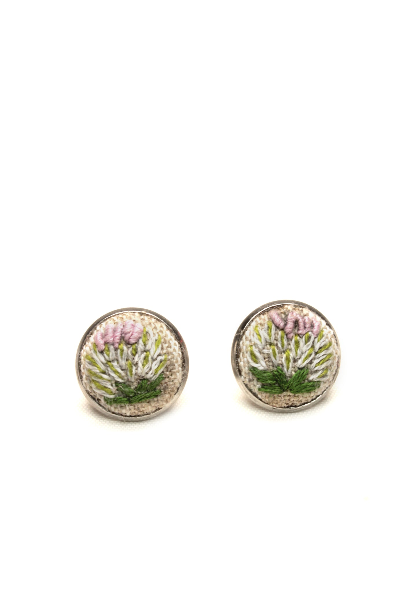 NEW | Embroidery Studs Earrings - Bullion Flower