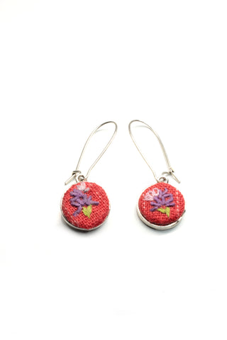 NEW | Embroidery Earrings - Lavender