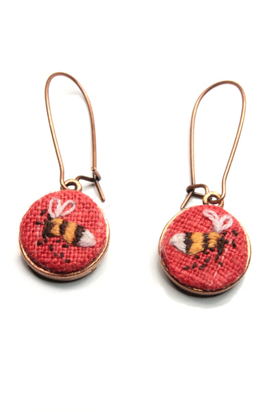 NEW | Embroidery Earrings - Bee