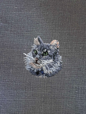 Embroidery Custom Pet Portrait - Mini Frame