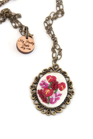 NEW | Embroidery Necklace - Tropicana