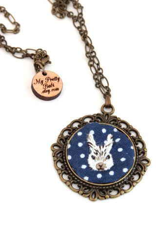 NEW | Embroidery Necklace - Bunny