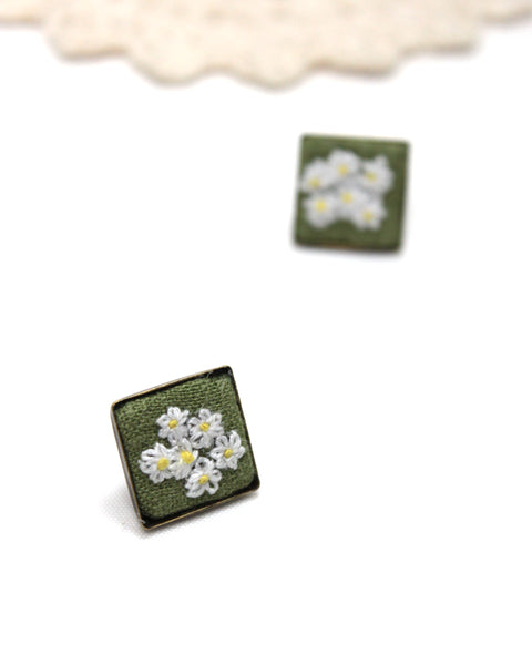 Embroidery Earrings - Daisy Field | On Sale