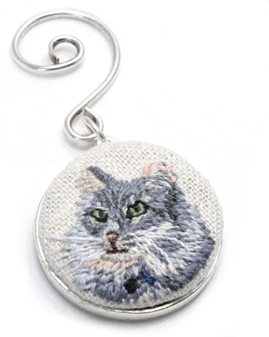 Embroidery Custom Pet Portrait - Ornament