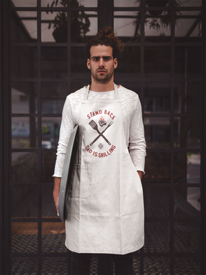 Create Your Own Adult Apron White