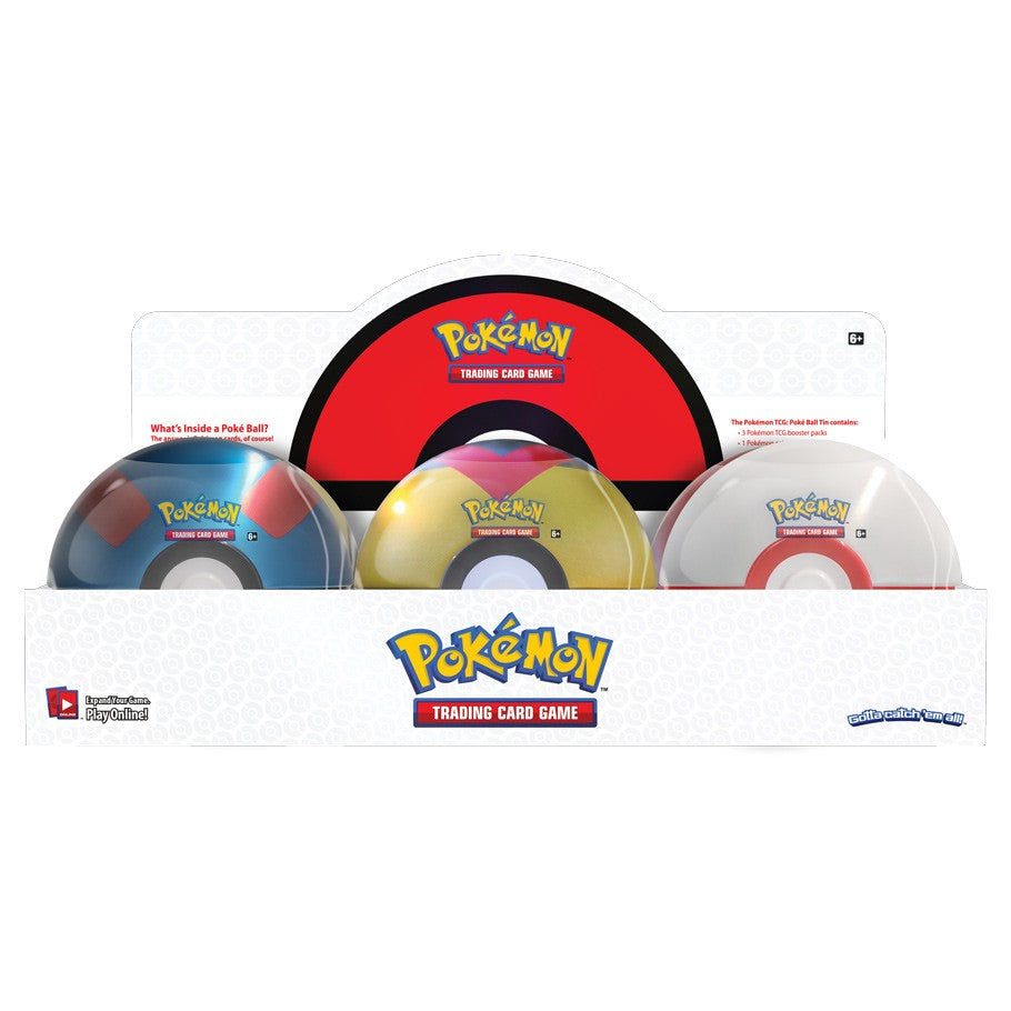 Sealed Case - Pokeball Tin Wave 6 Spring 2021