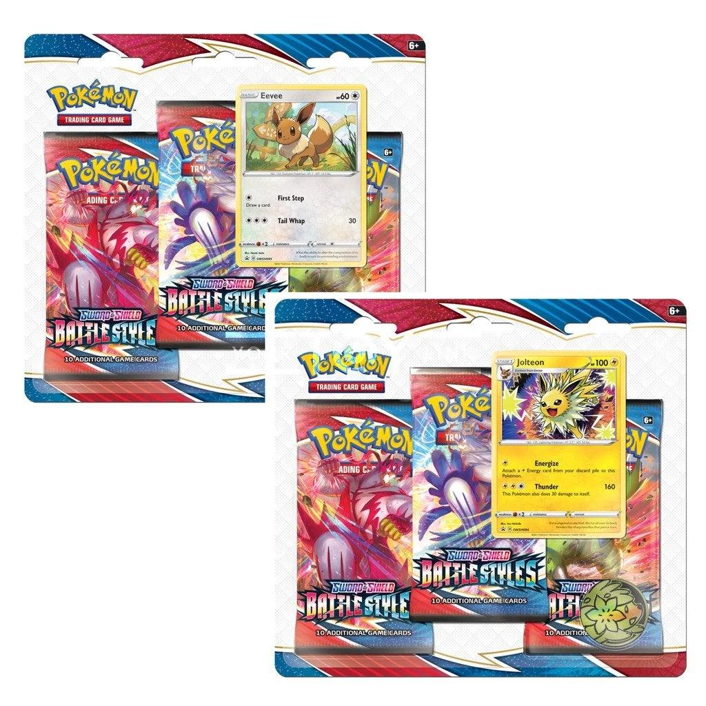 2x Battle Styles - 3-Pack Blister (Jolteon and Eevee)
