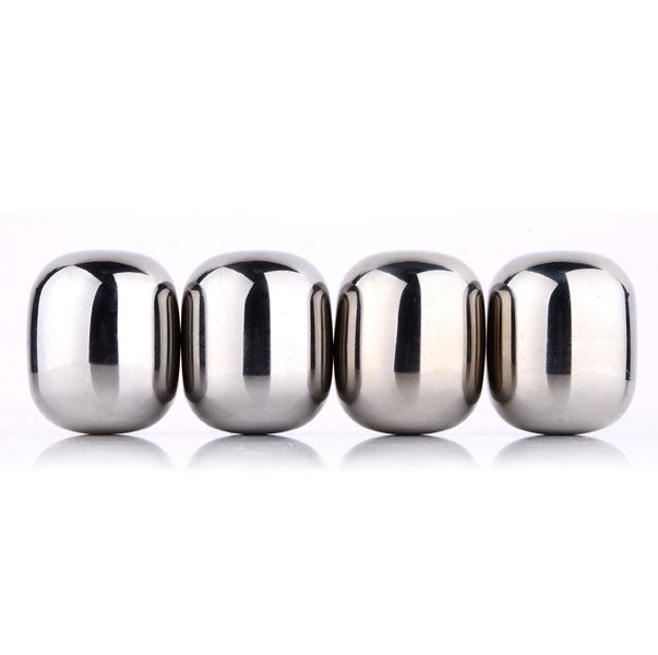 shopify-4 Piece Round Shaped Stainless Steel Ice Cube Cooler Set-3