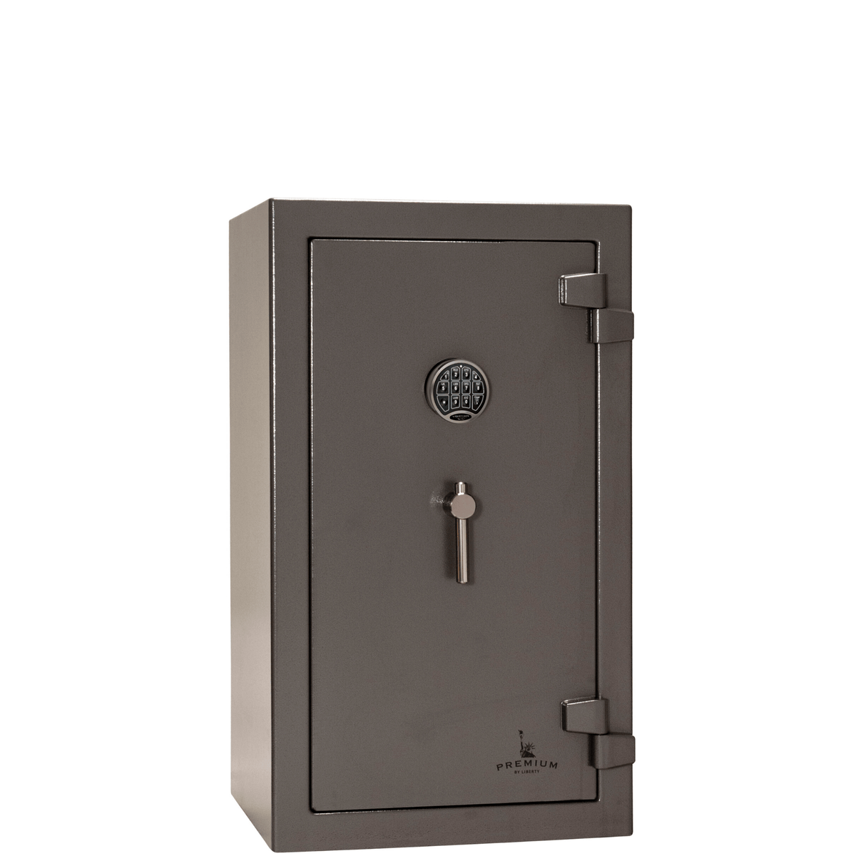 "Premium Home | 12 | 90 Minute Fire Protection | Gray | Electronic Lock | Dimensions: 42""(H) x 24""(W) x 22.5""(D)"