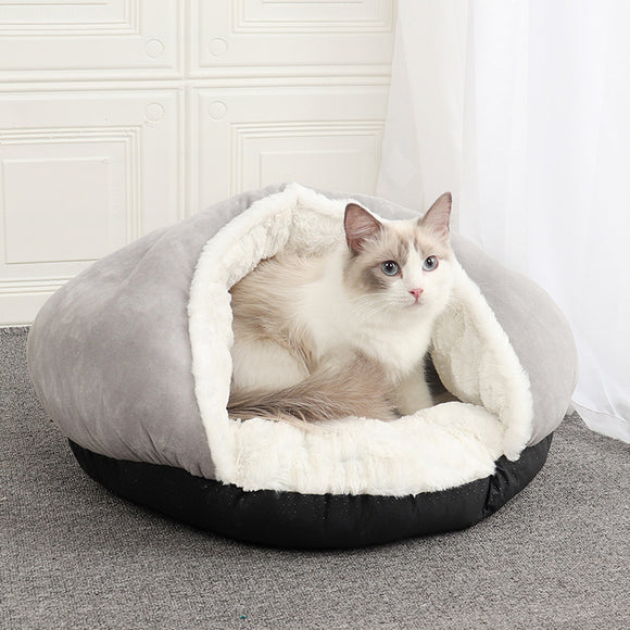 Semi-closed slippers pet nest , nid de chat