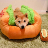 Dog Washable Cotton Kennel Dog Nest Puppy Pet Bed House Warm Cushion Pad Mat . Lit chien