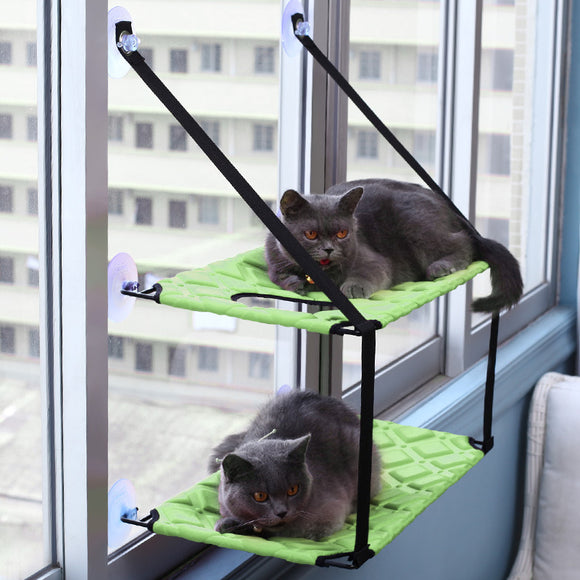Cat Hammock Window Resting Seat Perch Cat Bed for Indoor Cats Sleeping