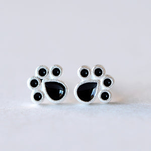Silver Plating LittleFootprintClaw Stud Earrings