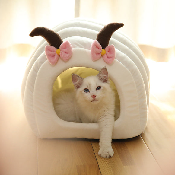 Semi-enclosed Deep Sleep Warm Cute Pet Nest, nid chat