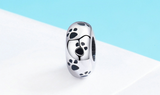 Animal series sterling silver s925 bracelet separated beads personality silicone beads positioning DIY accessories SCC594