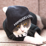Personality cat clothes pet funny autumn tide brand hooded cat sweater British short kitten Siamese kittens autumn and winter clothing